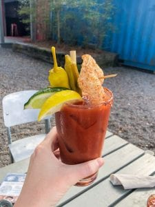 Spicy Bloody Mary at Hometeam BBQ